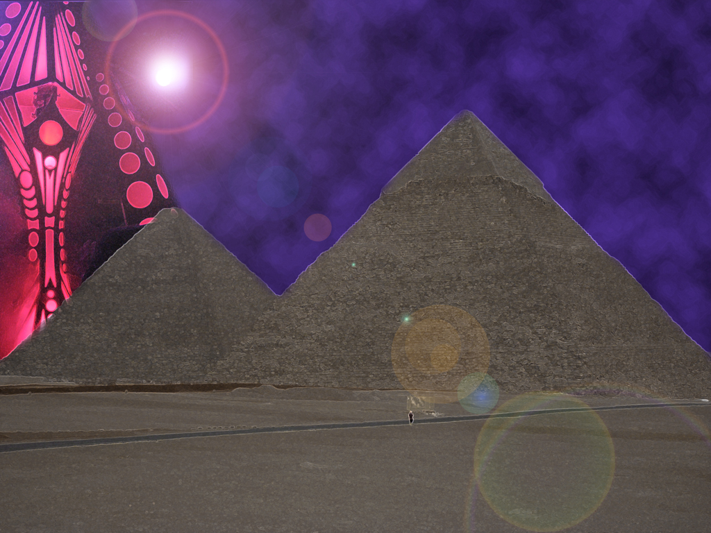 Alien over Giza