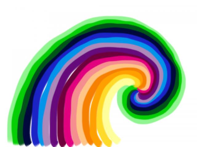 spiral rainbow - photo #14
