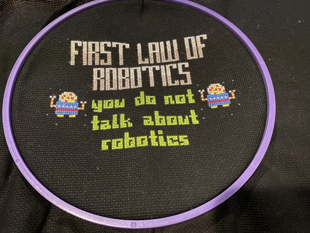 First law of robotics: You do not talk about robotics